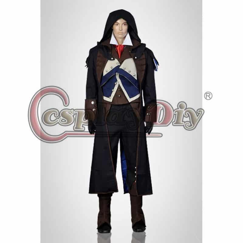 Assassins Creed Unity Arno Dorian Cosplay Costume Adult Men's Halloween  Costume Custom Made