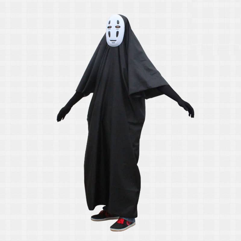 cdfbaecc879 2015 Hot Sale Spirited Away Faceless Men Cosplay Costumes Funny Halloween  COS (Masks+Gloves+Costumes)