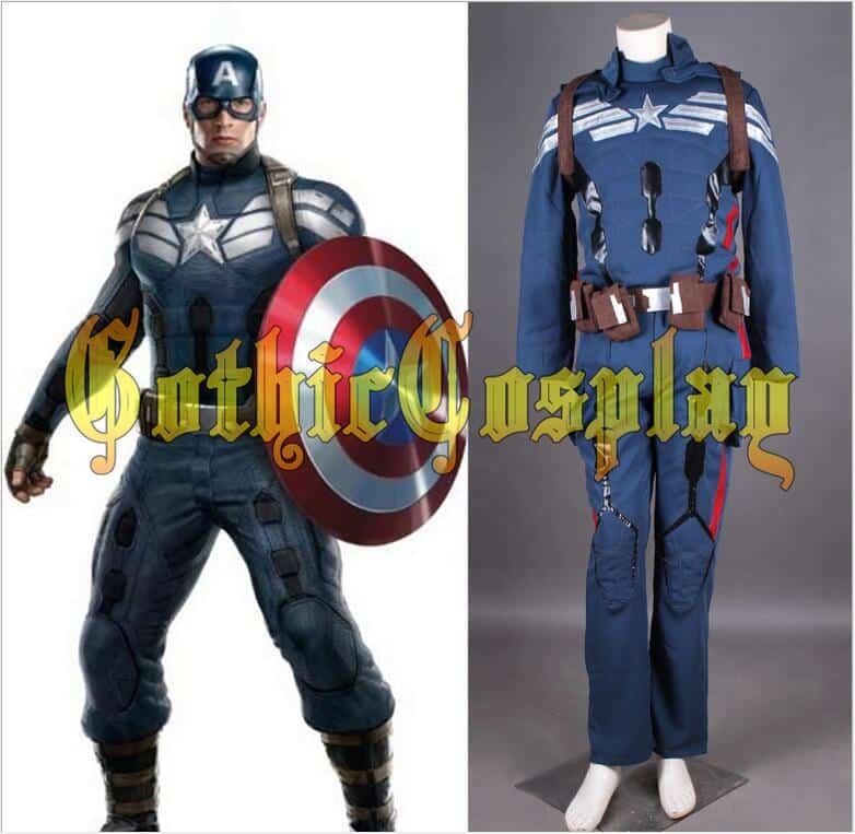 Avengers Age Of Ultron Captain America Cosplay Costume Steve Rogers