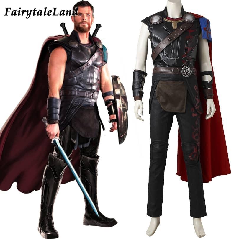 Thor Ragnarok Odinson Cosplay Costume adult Men Halloween costumes Custom  made Cosplay Thor 3 superhero Thor costume