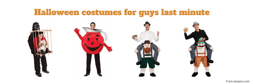 Halloween costumes for guys last minute